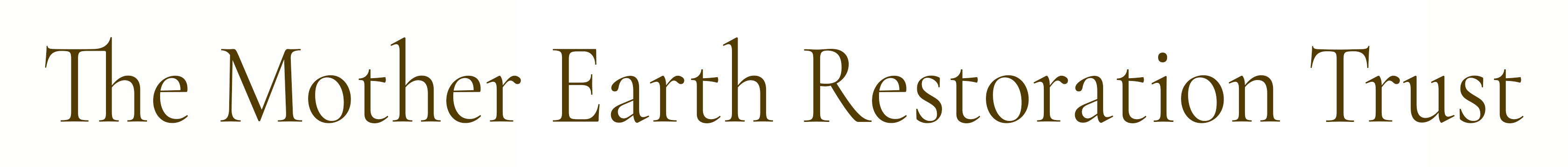 The Mother Earth Restoration Trust